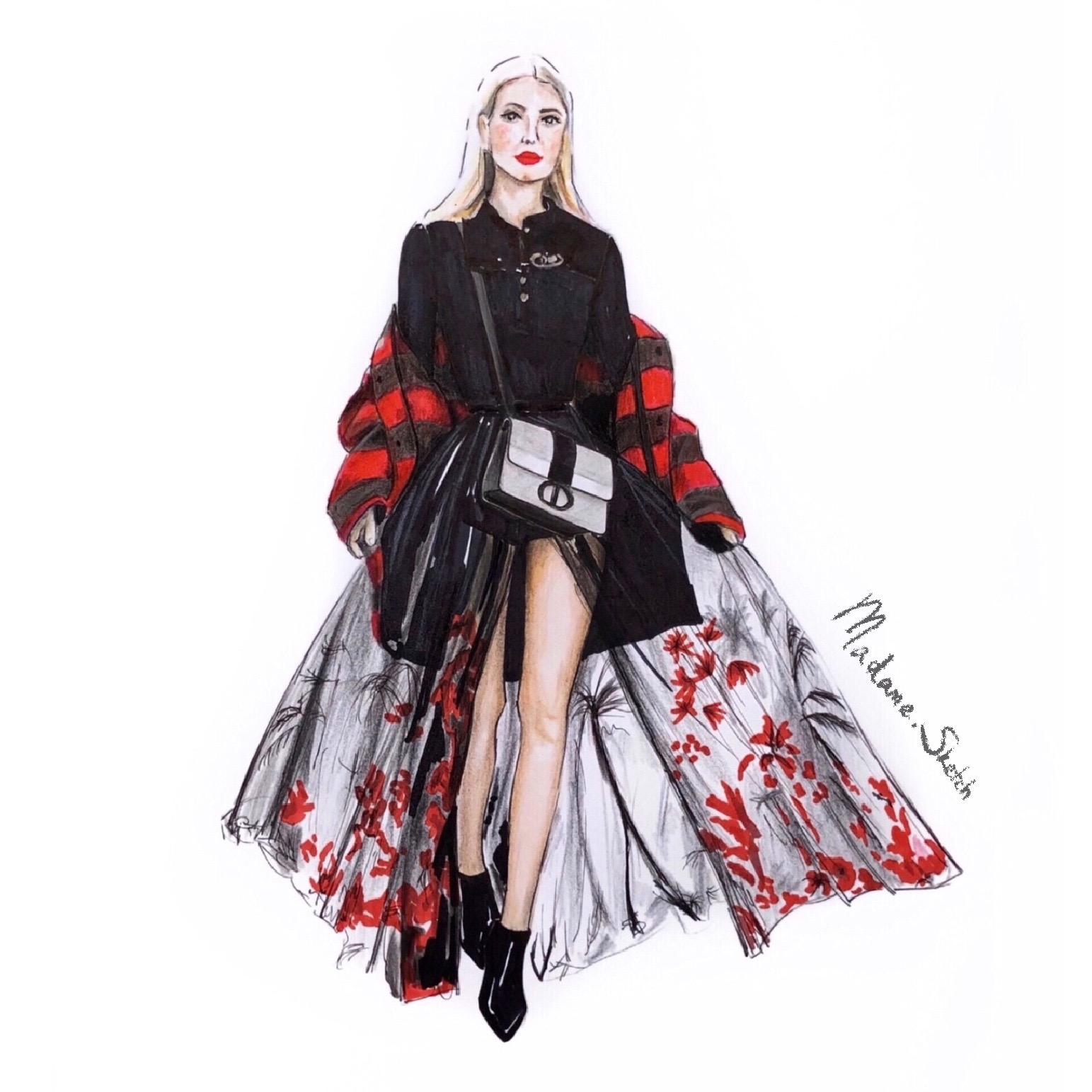 Madame.Sketch.Fashion.Dior