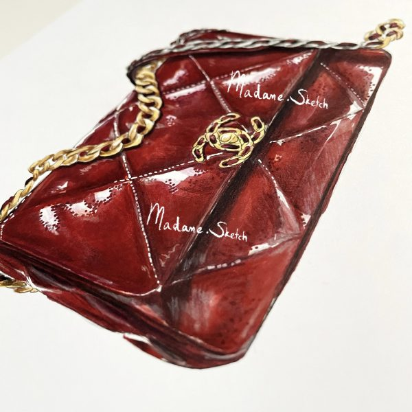 Madame Sketch Chanel flap 19 - 1